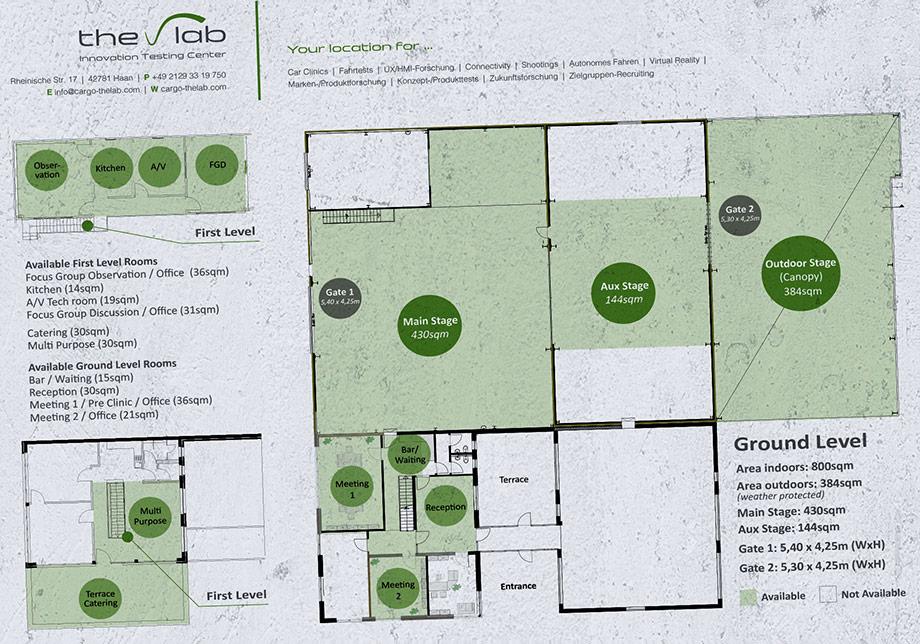 Der Hallenplan von THE LAB